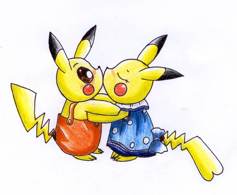 Pokémon-Zeichnung: Pika Pikachu <3