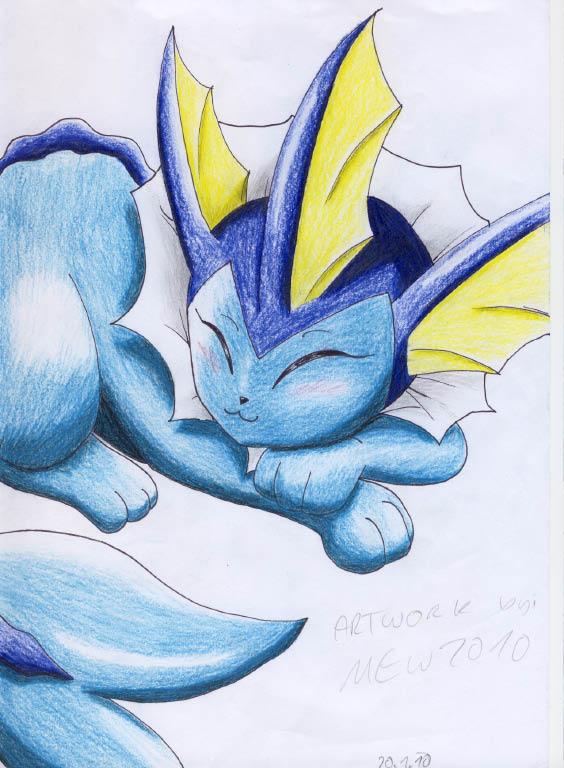 Pokémon-Zeichnung: Aquana is tired xD
