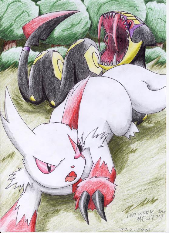 Pokémon-Zeichnung: sengo vs. vipitis