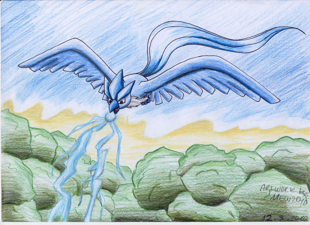 Pokémon-Zeichnung: Arktos und so weiter xD