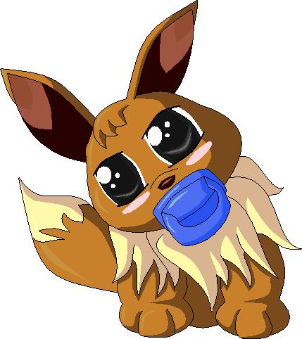Pokémon-Pixelart: Baby-Evoli