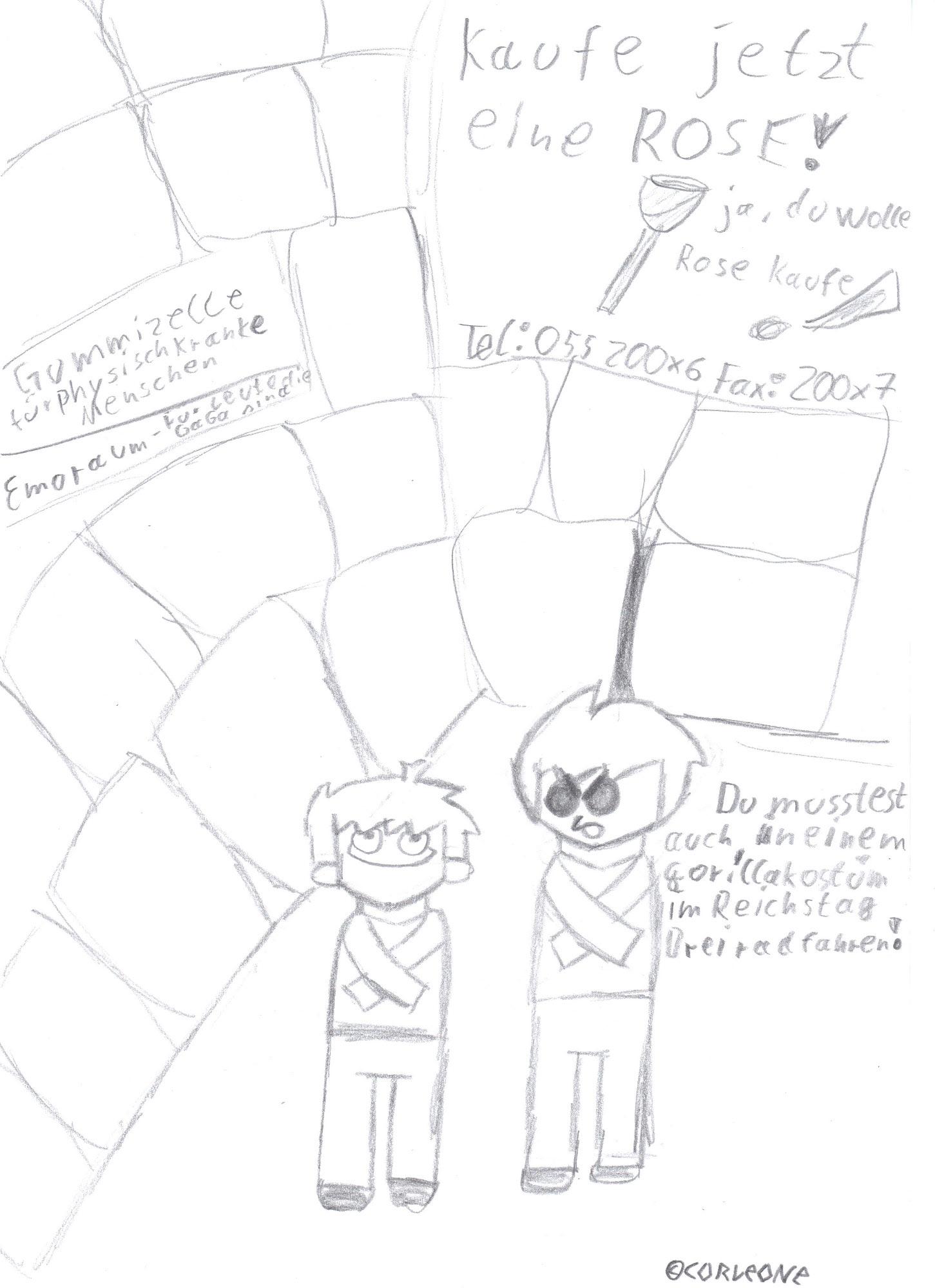 Pokémon-Zeichnung: Fratzenkrieg Zelle!