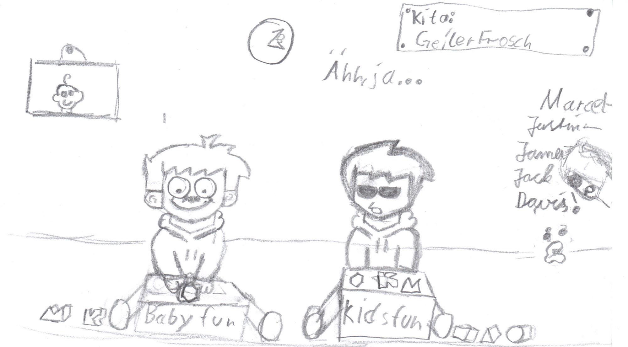 """Pokémon-Zeichnung: Fratzenkrieg """"kita"""""""