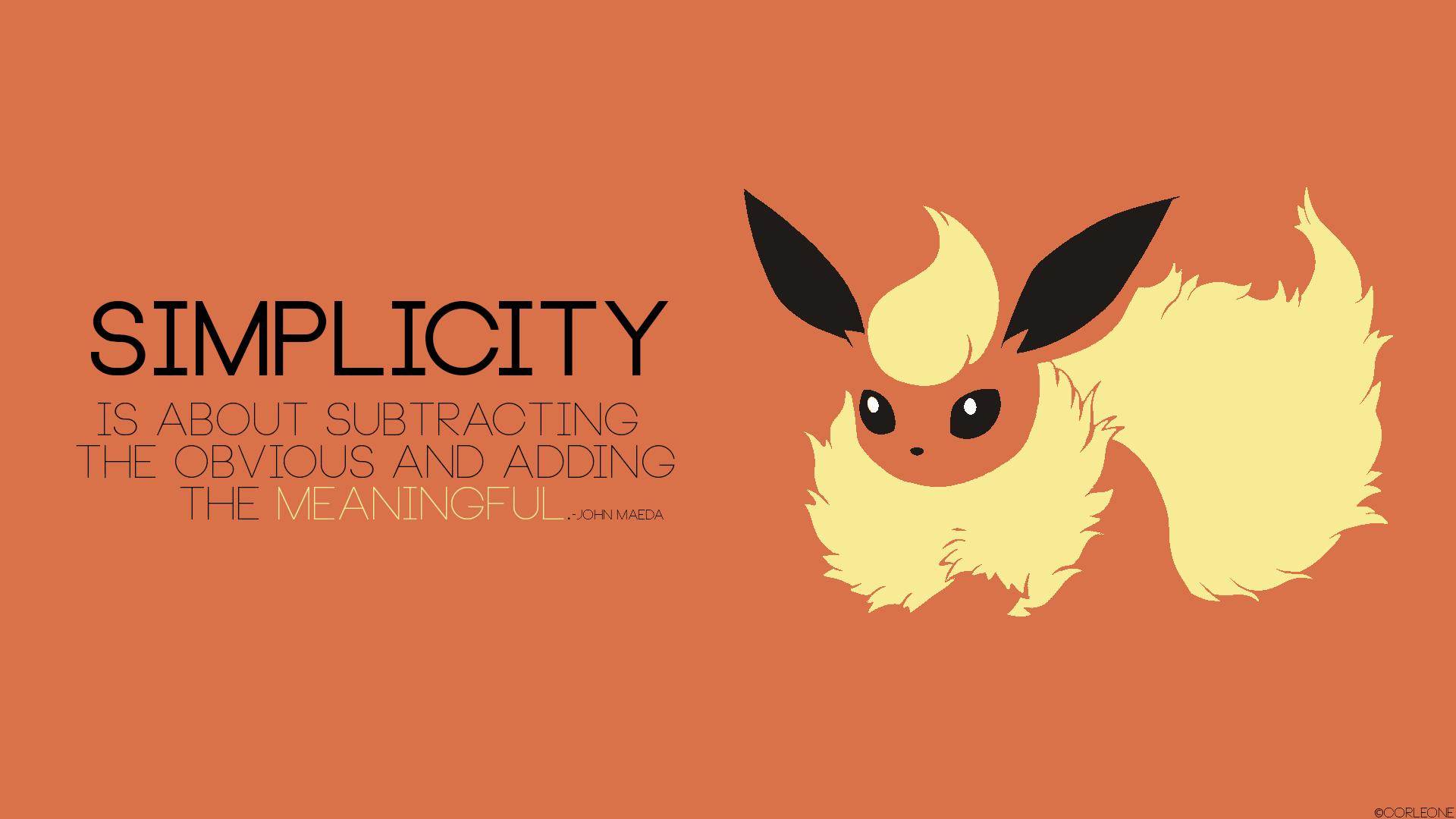 Pokémon-Fanart: Ein simples Wallpaper