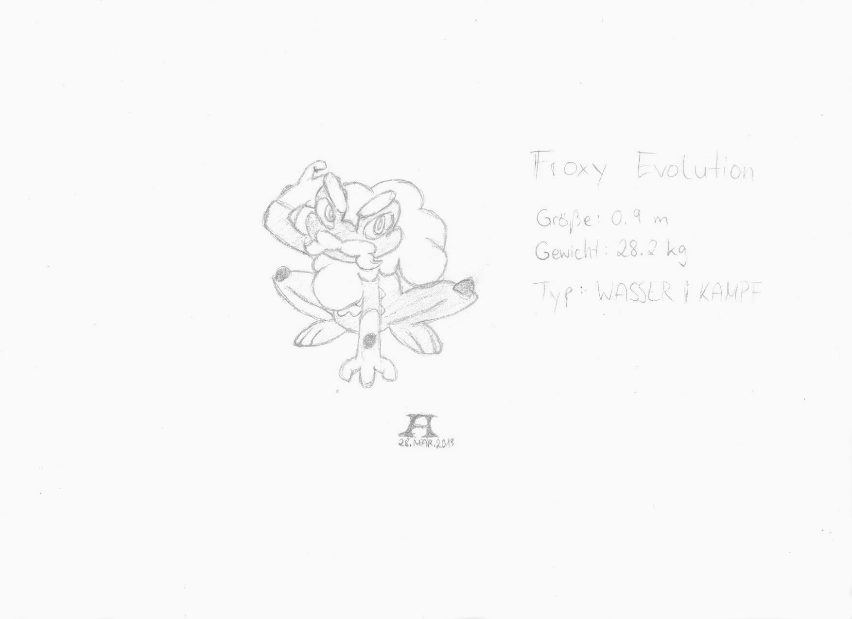 Pokémon-Zeichnung: Froxy Entwicklung