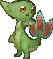 Pokémon-Zeichnung: Silhouette (Links) gecolort