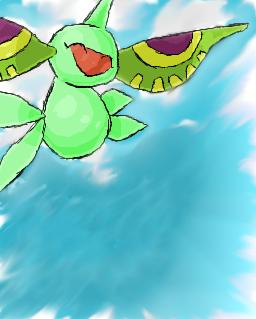 Pokémon-Zeichnung: Shiny Masquerain