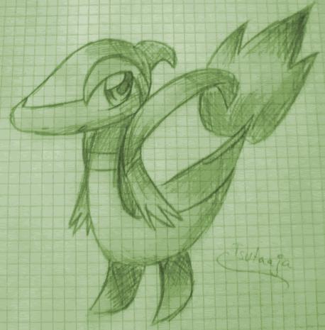 Pokémon-Zeichnung: Tsutaaja