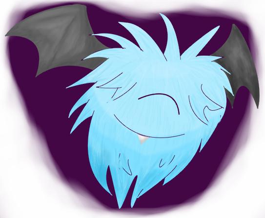 Pokémon-Zeichnung: Koromori Lineless Wuschel-Artwork