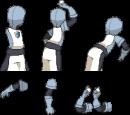Team Plasma Rüpel Backsprite (B/W)