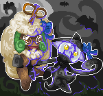 Pokémon-Pixelart: Kiniminaa & Ribindara