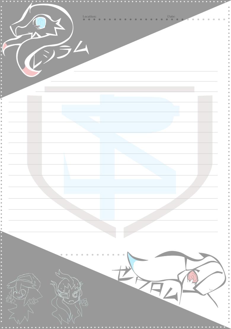 Pokémon-Zeichnung: Black/White Papier