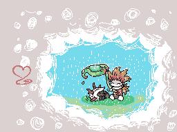 Pokémon-Zeichnung: Adeku & Meraruba C-Gear Skin