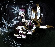 Pokémon-Pixelart: Gaja und Willi