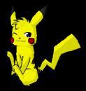 Sitting Pikachu