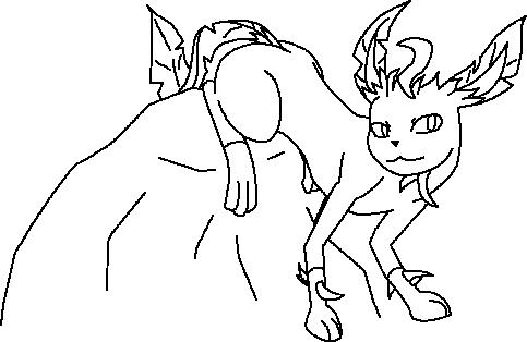 Pokémon-Zeichnung: Outlines Folipurba + Basecolo Set