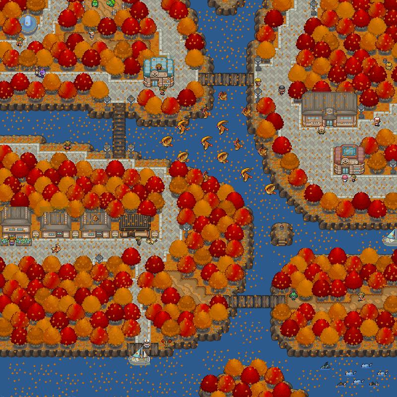 Pokémon-Map: Remake - Herbstliche Kleinstadt