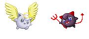 Pokémon-Sprite: engel/teufel