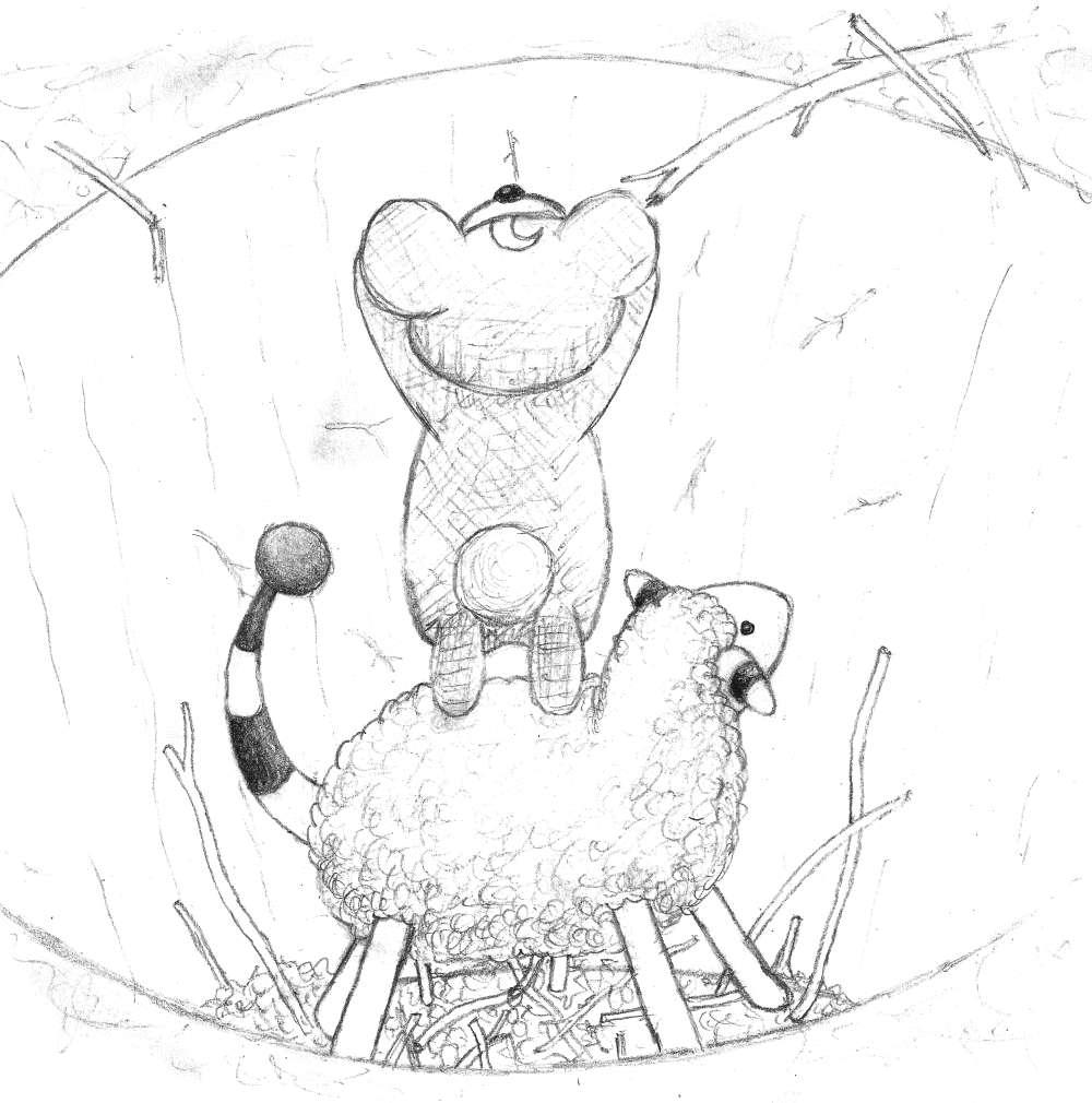 Pokémon-Zeichnung: Bärchen in der Grube...