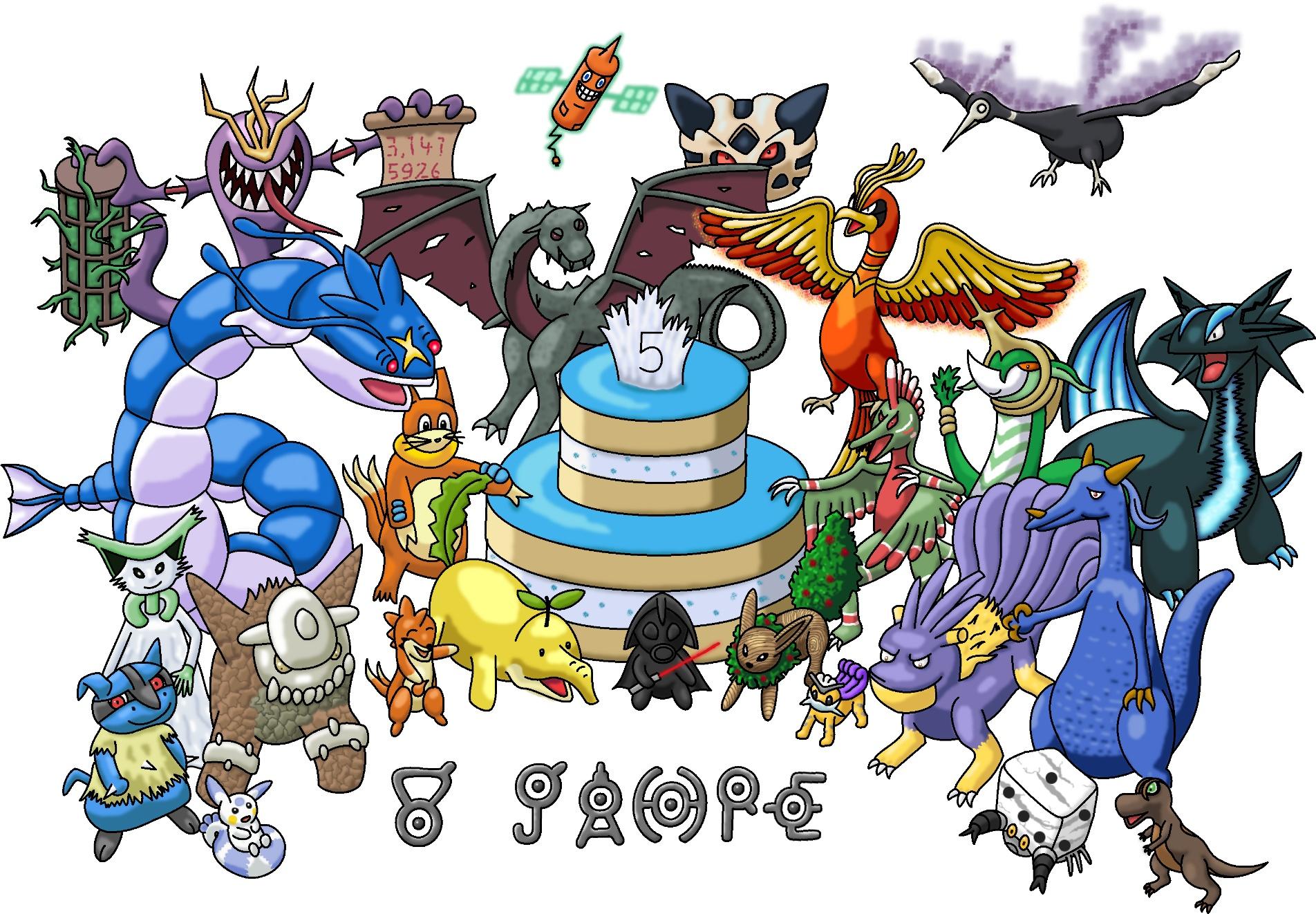 Pokémon-Zeichnung: Geburtstagsfeier in der Galerie