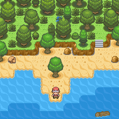 Pokémon-Map: Am Strand