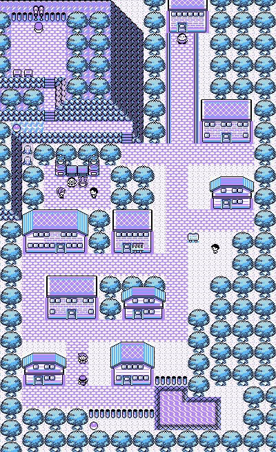 Pokémon-Map: Eventura in violett