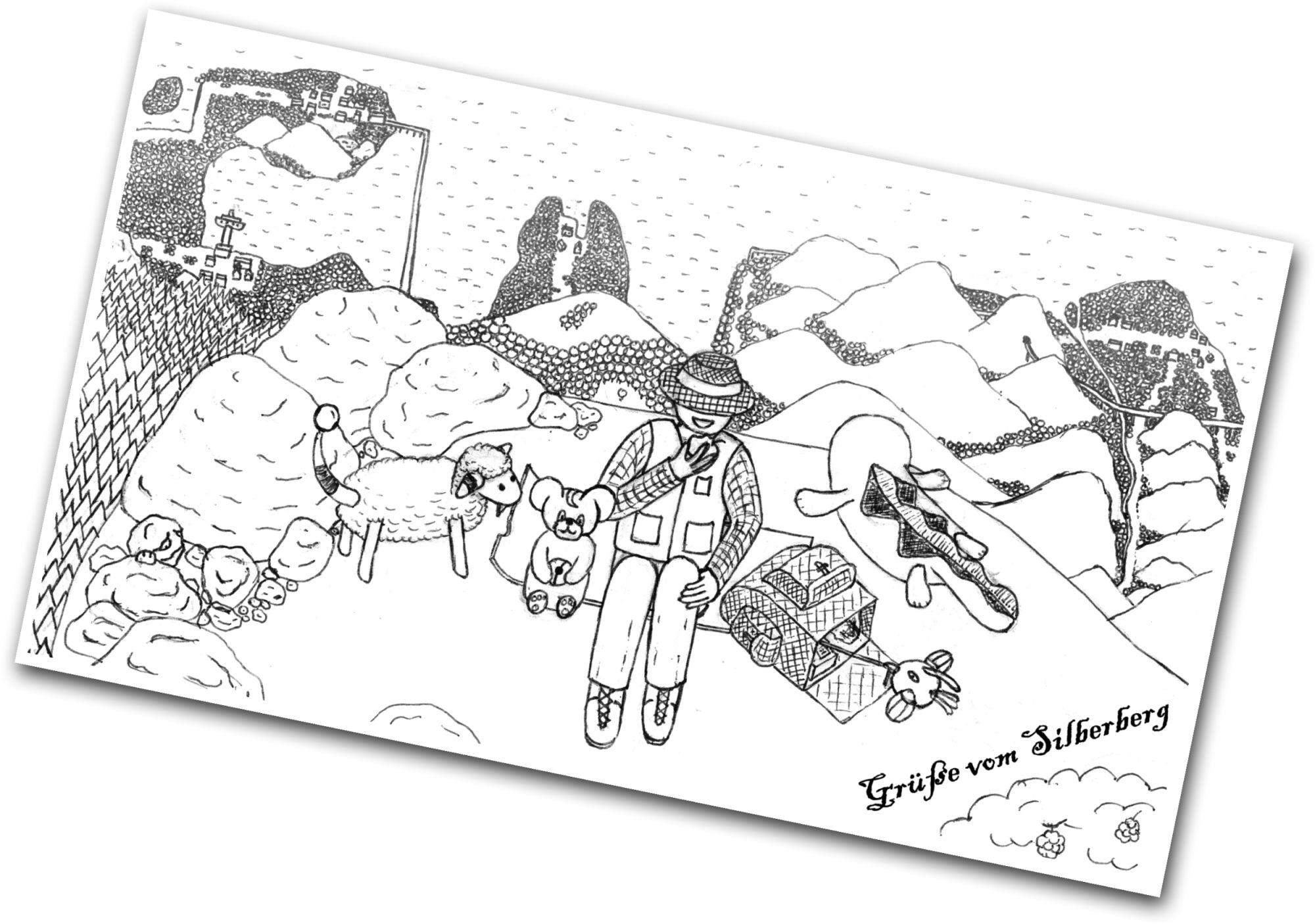 Pokémon-Zeichnung: Grüße vom Silberberg