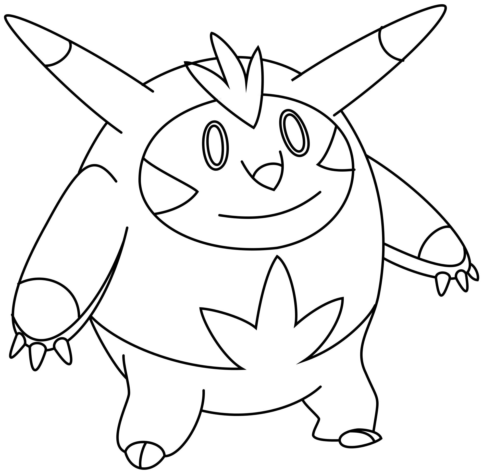 Zeichnung: Igastarnish - Ausmalbild (Pokémon-Fanart)