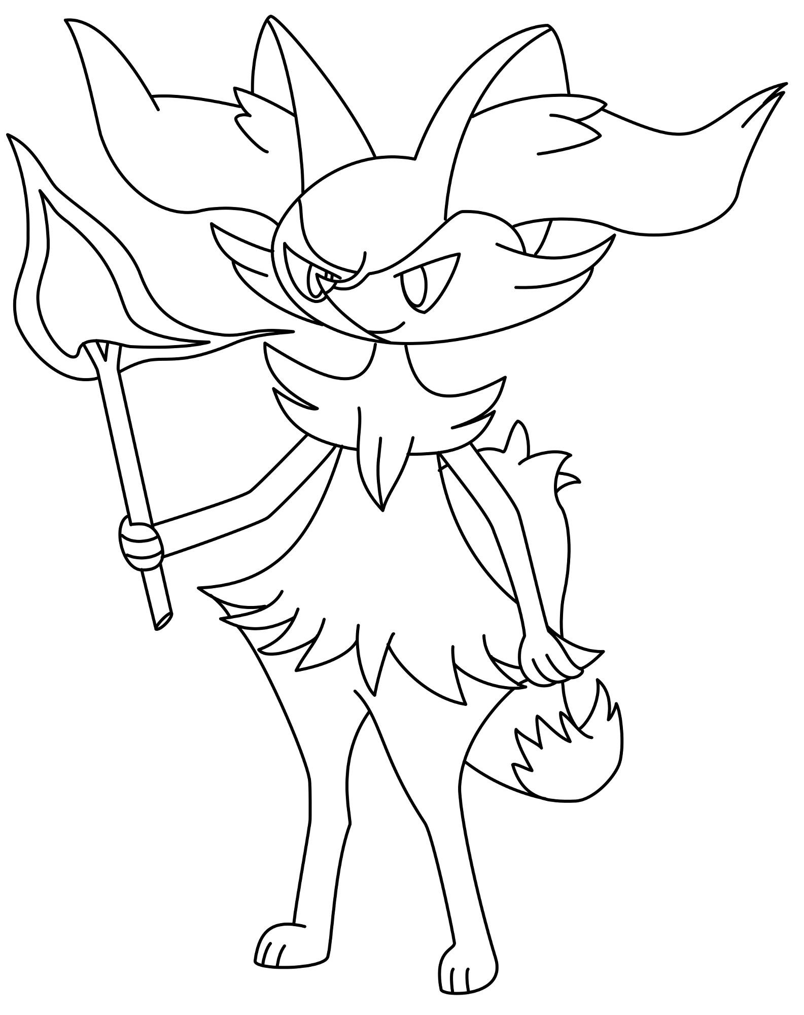 Alle Pokemon Ausmalbilder : Zeichnung Rutena Ausmalbild Pok Mon Fanart