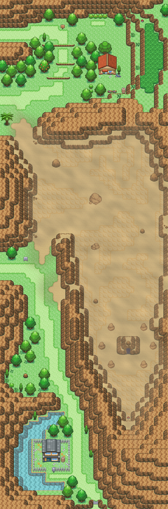Pokémon-Map: Route 111 - Remake