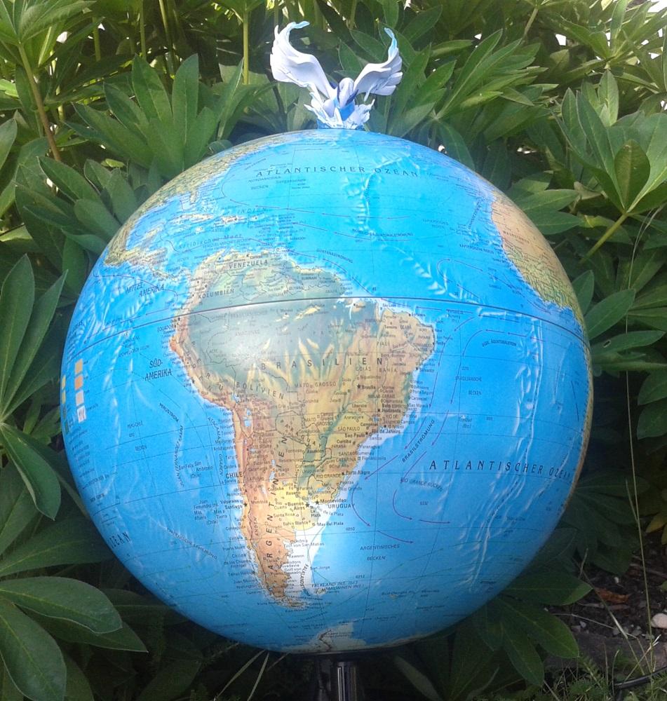 Foto: Lugia auf Globus
