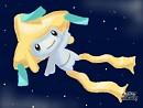 Jirachi vor Sternen