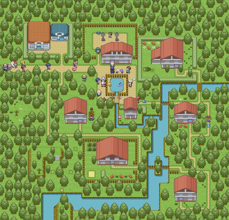 Pokémon-Map: Ein idyllisches Walddorf