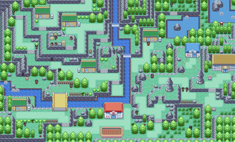 Pokémon-Map: Eine Bergstadt..