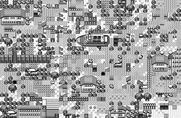 Pokémon-Map: Sunny-Town-Verschnitt