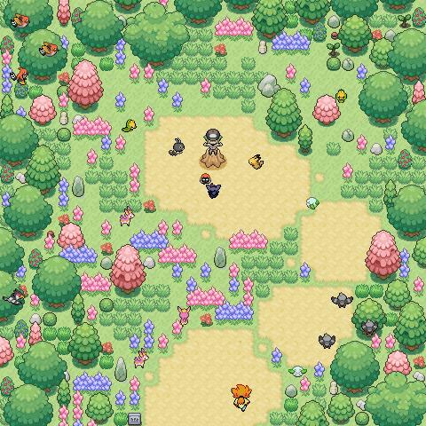 Pokémon-Map: Eine Frühlingsmap für den Legendary Mapping-WB