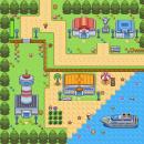 kleine Stadt am meer