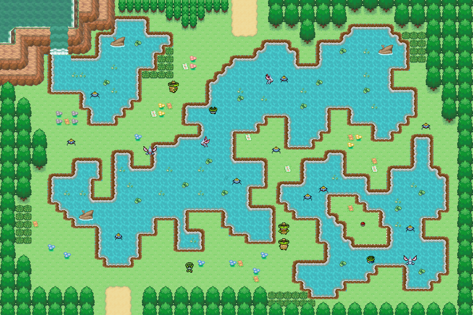 Pokémon-Map: Familiensee für Geweiher und Maskeregen