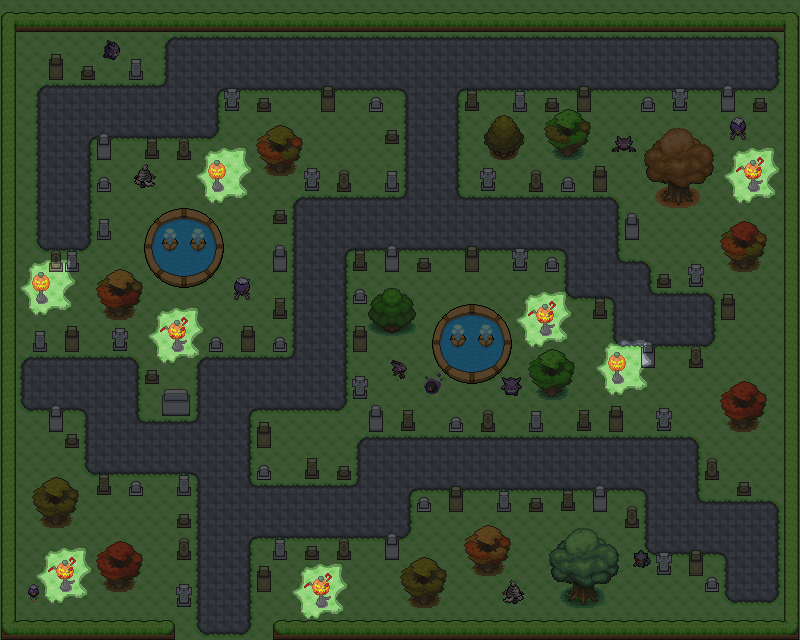 Pokémon-Map: Halloween-Friedhof
