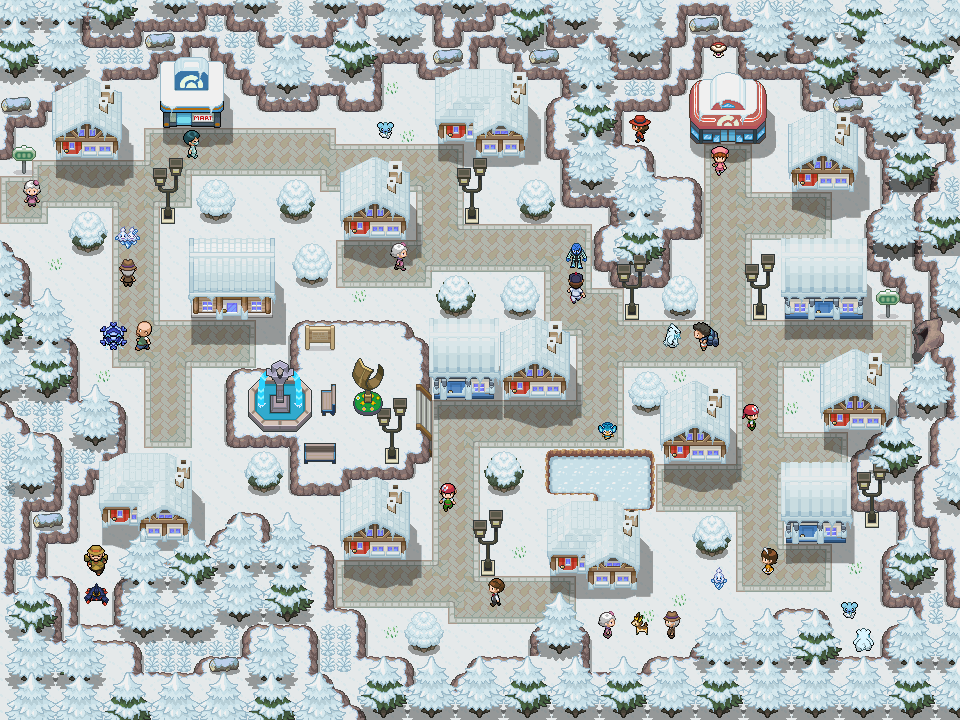 Pokémon-Map: Winterstadt
