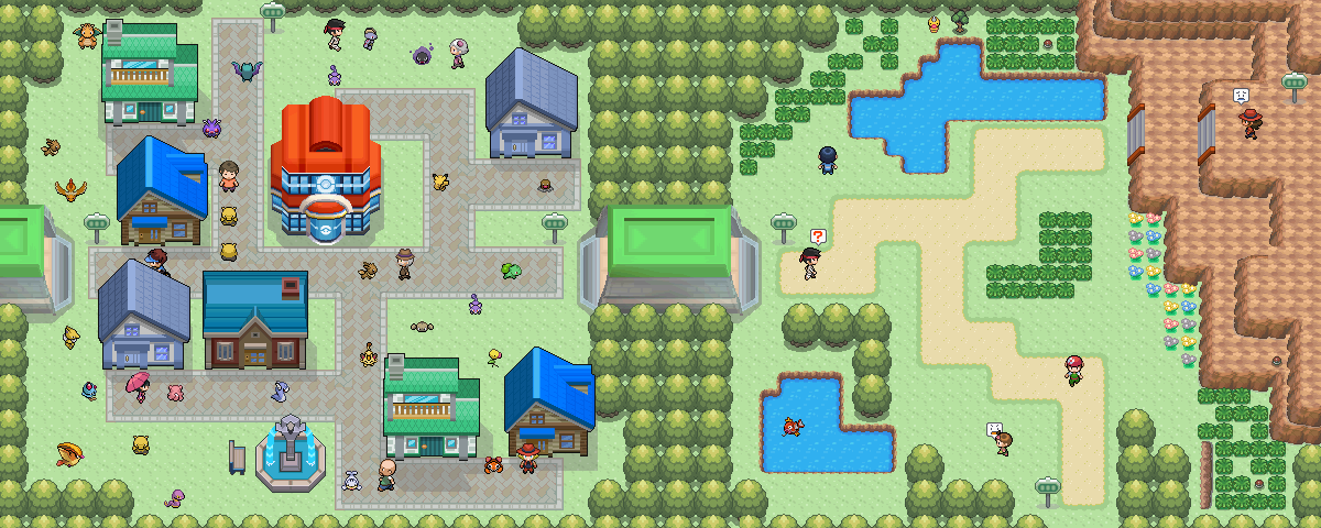 Pokémon-Map: Kontraste