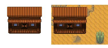 Pokémon-Tileset: Saloon