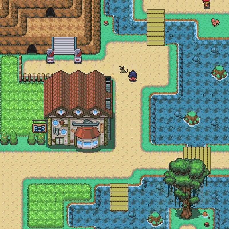 Pokémon-Map: Bar, See und Katze. Was will man mehr?