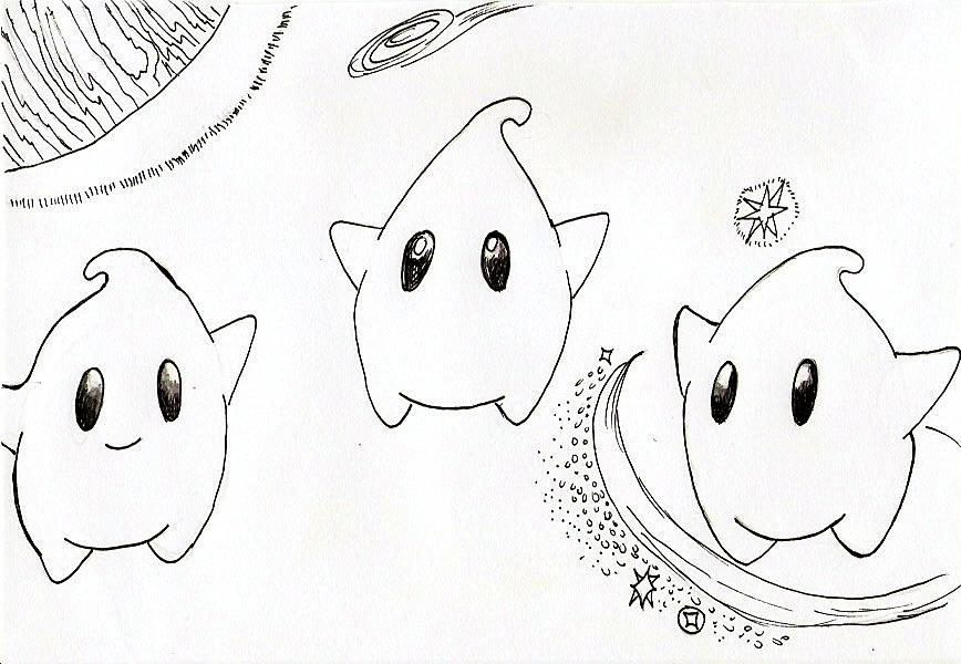 Pokémon-Zeichnung: Lumas