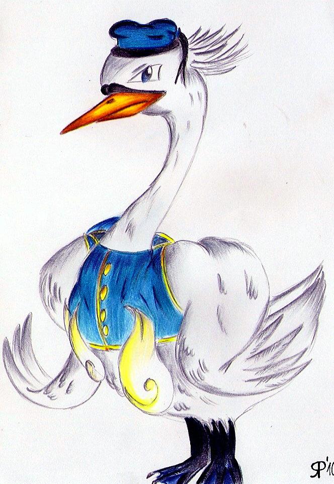 Pokémon-Zeichnung: Donald Swana Duck