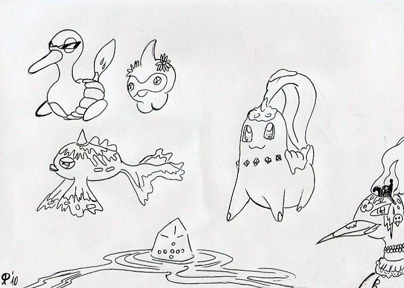 Pokémon-Zeichnung: Jahreszeitenpokemon