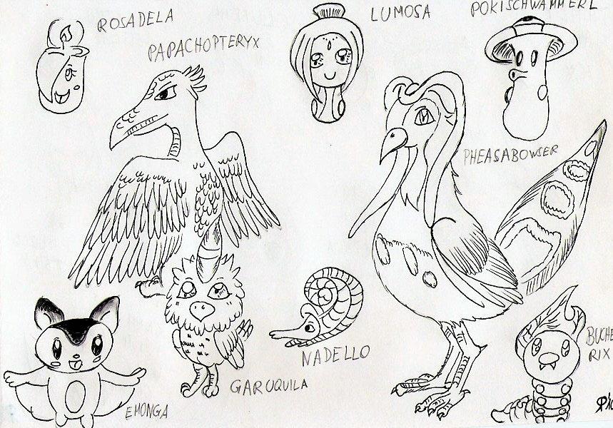 Pokémon-Zeichnung: Neue Pokemon hurray