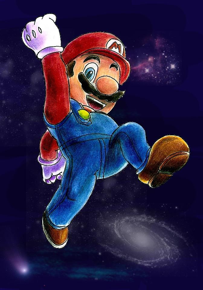 Pokémon-Zeichnung: Mario Galaxy Colo