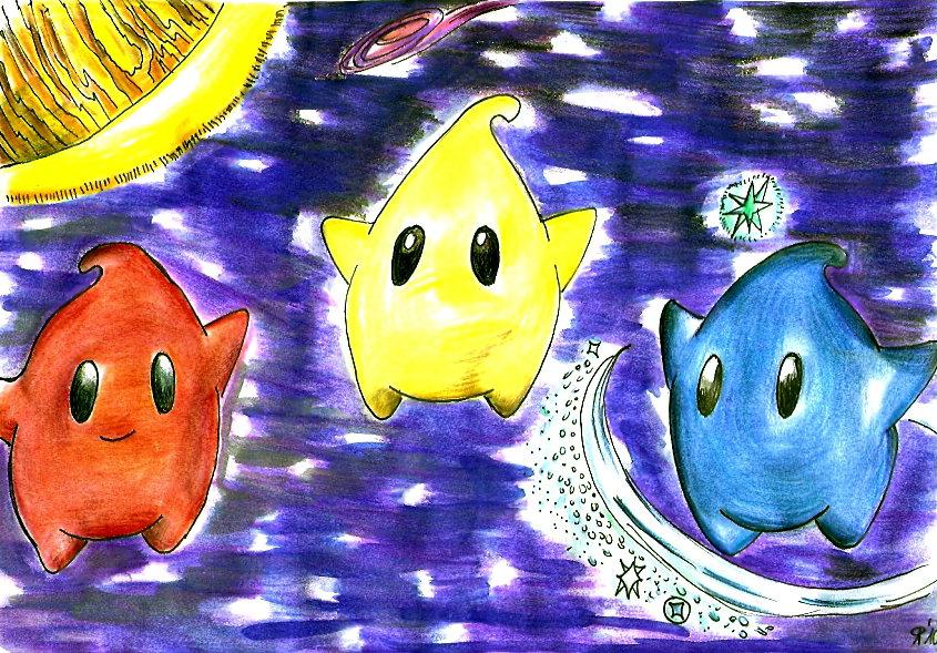 Pokémon-Zeichnung: Lumas Colo