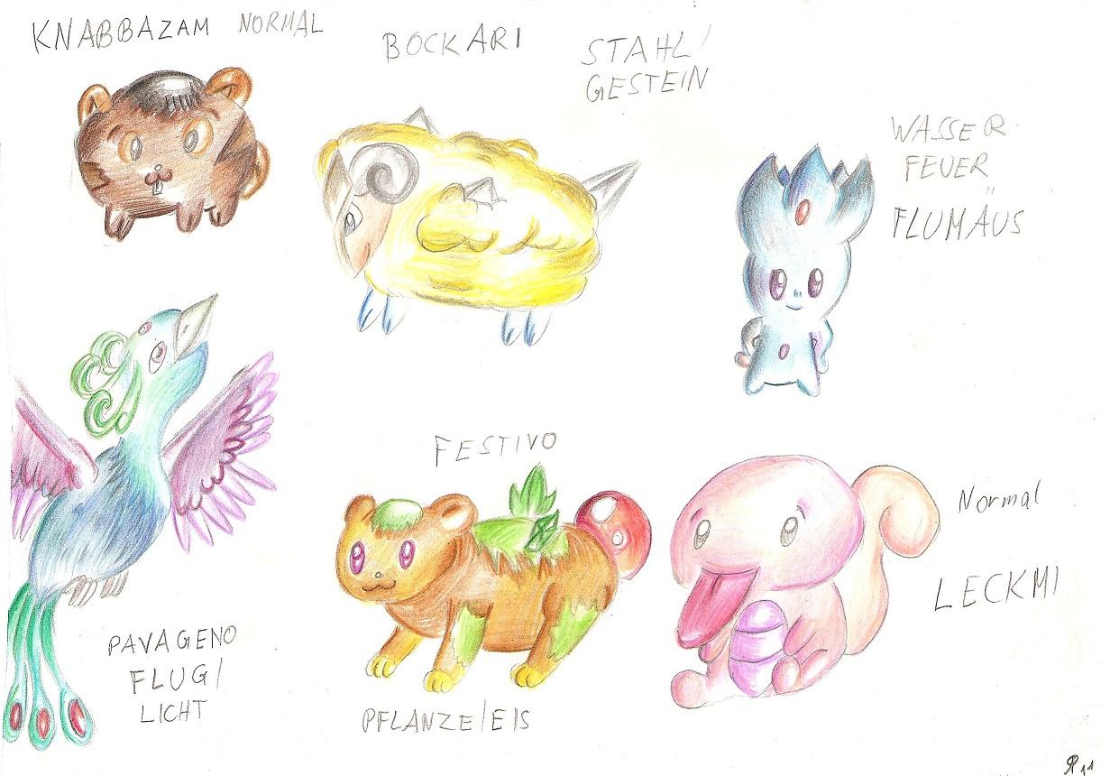 Pokémon-Zeichnung: wieder mal Fanpokemon